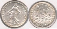 FRANCIA FRANCE 50 CENTIMES FRANC 1917 PLATA SILVER V - Francia