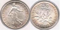 FRANCIA FRANCE 50 CENTIMES FRANC 1920 PLATA SILVER V - Francia