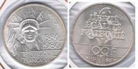 FRANCIA FRANCE 100 FRANCS 1986 LIBERTAD PLATA SILVER V2 - France