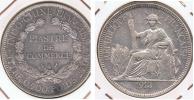 INDOCHINA FRANCIA VIETNAM PIASTRA 1913 A PLATA SILVER V - Viêt-Nam
