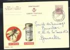 Publibel Obl. N°1935 ( Insectes; Mouche; Het Gevaar; De Redding: AEROXON) Obl: Bxl: 11/09/1964 - Publibels