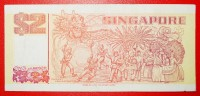 ★SHIP AND DRAGON: SINGAPORE ★ 2 DOLLARS (ca. 1990)! LOW START ★ NO RESERVE! - Singapour