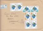 Kuwait com Registr,cover 1997 frankeed 2 complete set UN 3v.+ 2 stamps-verso date- fine conditi
