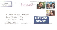 3 VAL. PER ITALIA BY AIR MAIL - Beroemde Personen
