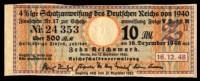 Deutsches Reich / Germany: 'Schatzanweisung Nr. 17 - Zinsschein 500 RM, 1940' / 'Bond Coupon' - Banco & Caja De Ahorros
