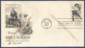 USA UNITED STATES OF AMERICA 1963 MNH FDC FIRST DAY COVER JOHN J AUDUBON ARTIST - Timbres