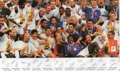 Grande Carte -  MAC DONALD -  COUPE Du MONDE FRANCE 98 -  EQUIPE De FRANCE De FOOTBALL Avec Leurs Signatures - Football