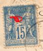 YT 101 Sage - Variété Impression Incomplète - Sur Enveloppe - Compan De Gigean/Lagarrigue De Murviel - 1900 - Faux ? - 1876-1898 Sage (Tipo II)