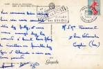 FLAMME DE LA POSTE SUR CARTE POSTALE 1962 (LOT AA6) - Marcophilie (Lettres)