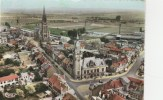 CPSM ESTAIRES (Nord) - L´Hôtel De Ville L´Eglise Saint Vaast - France