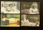 Beau Lot De 20 Cartes Postales Fantaisie Scènes De Lit érotique   Mooi Lot Van 60 Postkaarten Fantasie Bedscènes Erotiek - Postales