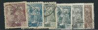 Spagna 1939 Usato - 6v - 1931-Aujourd'hui: II. République - ....Juan Carlos I