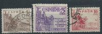 Spagna 1936/50 Usato - Cid 3v - 1931-Aujourd'hui: II. République - ....Juan Carlos I