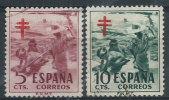 Spagna 1951 Usato - Mi.55/56 Pro Tubercolosi - 1931-Oggi: 2. Rep. - ... Juan Carlos I