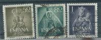 Spagna 1954 Usato - 3v - 1931-Oggi: 2. Rep. - ... Juan Carlos I