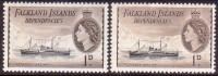 FALKLAND ISLANDS DEPENDENCIES 1954-62 SG #G27,b 1d MNH Both Shades - Falkland