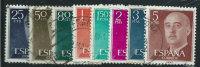 Spagna 1955/6 Usato - 8v - 1931-Oggi: 2. Rep. - ... Juan Carlos I