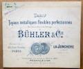 """Catalogue """"Tuyaux Métalliques Flexibles, Bühler & Cie à La Jonchère Par Rueil 1901"""" (amiante) - Colecciones"""
