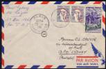 Lettre Avion Pour L'Australie Affr. 2 X 0,20 Marianne De Cocteau Et 1,00 Eglise Cilaos Tàd Paris Gare Du Nord 29.4.1961 - 1961 Marianne De Cocteau