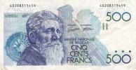 BILLETE DE BELGICA DE 500 FRANCOS DEL AÑO 1986 DIFERENTES FIRMAS (BANKNOTE) - 500 Frank