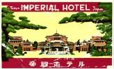 11 HOTEL Labels  JAPAN JAPON   TOKYO  Diamond Prince Okura Nikko  Fuji New Japan Palace Imperial - Hotelaufkleber
