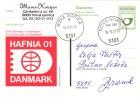 SLOVENIJA SLOVENIA DOPISNICA 2001 NOVA GORICA HAFNIA 01 DANMARK PHILATELIC EXHIBITION FIRST DAY  POSTAL STATIONERY - Slovenië