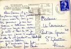 FLAMME DE COLLIOURE 1958 SUR CARTE POSTALE (LOT AA6) - Marcophilie (Lettres)