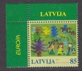 Europa Cept 2006 Latvia 1v (corner)  ** Mnh (25526E) - 2006