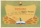 Romania, 1961, Vintage Merit Diploma - Ministry Of Agriculture, RPR - Diplomas Y Calificaciones Escolares