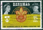 BAHAMAS, BRITISH COMMONWEALTH, 1967, COMMEMORATIVO, SCOUTISMO, FRANCOBOLLO USATO, Scott 268 - Bahamas (1973-...)