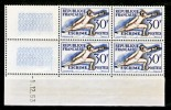 France  962 Escrime Bloc De 4 Coin Daté 1 12 53 Neuf ** TB MNH Sin Charnela Cote 18 - Coins Datés