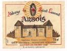 Etiquette Vin D´ARBOIS  Abbaye De Saint-Laurent - Dole J.M. à Montigny Les Arsures - Décollée - - White Wines