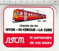 Chemin De Fer Nyon-Saint-Cergue-La Cure NStCM  °  Autocollant /  Adesivi /  Aufkleber /  Stickers - Adesivi