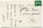 """FRANCE THEME J. O. CP AVEC OBLITERATION PARIS 3 XII 1923 + FLAMME """"JEUX OLYMPIQUES PARIS MAI - JUIN - JUILLET 1924"""" - Estate 1924: Paris"""