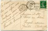 """FRANCE THEME J. O. CP AVEC OBLITERATION PARIS 25 XII 1923 + FLAMME """"JEUX OLYMPIQUES PARIS MAI - JUIN - JUILLET 1924"""" - Summer 1924: Paris"""
