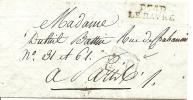 """LAC DU HAVRE A PARIS DU 12 BRUMAIRE AN 12 - CACHET TYPE 24  """" INDICE 10 """" - 1801-1848: Precursori XIX"""