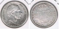 ESPAÑA  FILIPINAS ALFONSO XII 20 CENTAVOS PESO MANILA 1885 PLATA SILVER U2 - Filipinas