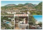 CP MULTIVUES VEYNES, VUE PANORAMIQUE, LA PISCINE, LA FONTAINE, LA TOUR, HAUTES ALPES 05 - Frankreich