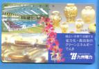 Japan Japon Telefonkarte Phonecard -  D�coration Art Vase Vaas Orchid