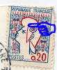 YT 1282 Marianne Cocteau - Variété Impression Incomplète - Sur CP Marseille ND - Guillard De Nantes - 1963 - Variétés Et Curiosités