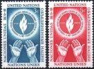 ONU UNO NEW YORK ** MNH Poste  21 Et 22 Journée Des Droits De L´homme Rights (CV 10,65 €) - New York - Sede De La Organización De Las NU