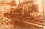 CPA LOCOMOTIVE FERROVIAIRE BULLETIN PLM SUR LE BANC D'ESSAIS DES GRANDS RESEAUX FRANCAIS A VITRY TRAIN - Trains