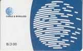 PANAMA(chip) - Blue Globe(B/. 3.00), Chip SC7, Used - Panama