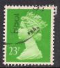 GB 1988 QE2 23p Bright Green Used Machin SG X966. ( B1475 ) - 1952-.... (Elisabeth II.)