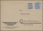 SBZ West-Sachsen 127+134 Ziffern 4+20 Pf MiF Brief LEIPZIG S 12 - 25.4.46 - Sowjetische Zone (SBZ)