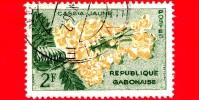 GABON - Usato - 1961 - Fiori - Piante - Flora - Cassia Jaune - 2 - Gabon (1960-...)