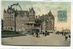 - 20  - Québec - Château Frontenac Et Promenade, Dufferin Terrace, Précurseur, écrite En 1909, Timbre,  BE, Scans. . - Québec - Château Frontenac