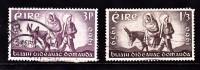 Ireland Scott  173-74 World Refugee Year , Animals, Xmas Used VF   CV 2.75 - 1949-... Republic Of Ireland