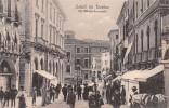 "02444 ""TREVISO - VIA VITTORIO EMANUELE"" ANIMATA, CAVALLO.  CART.  SPED. 1920 - Treviso"