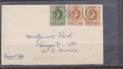 O) 1950 SWAZILAND, POSTAGE 1 1/2D. REVENUE, POSTAGE 2D. REVENUE, XF TO USA - UNITED STATES - Swaziland (1968-...)